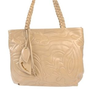 Beige Tote Braccialini (Italy) Genuine Leather  Bag